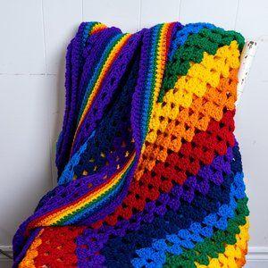 Handmade Rainbow Afghan